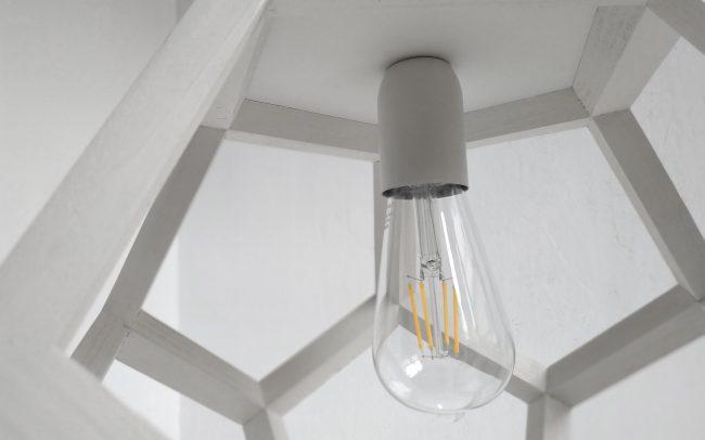 Lampada in legno ALBIORIX dodecaedro - Fulcro Firenze