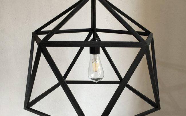 Lampada in legno MEGACLITE icosaedro - Fulcro Firenze