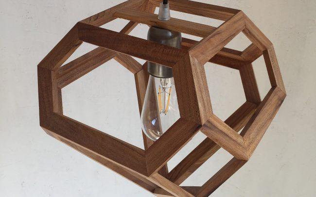 Lampada in legno NARVI diamante - Fulcro Firenze