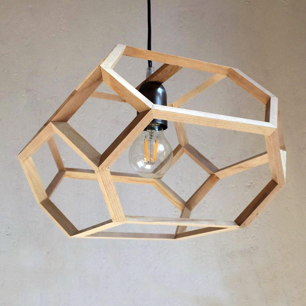 elongated truncated octahedron pendant lamp