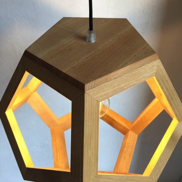 Albiorix dodecahedron wood pendant lamp