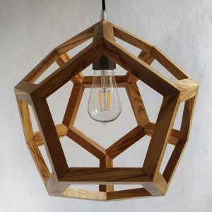 Albiorix dodecahedron wood pendant lamp