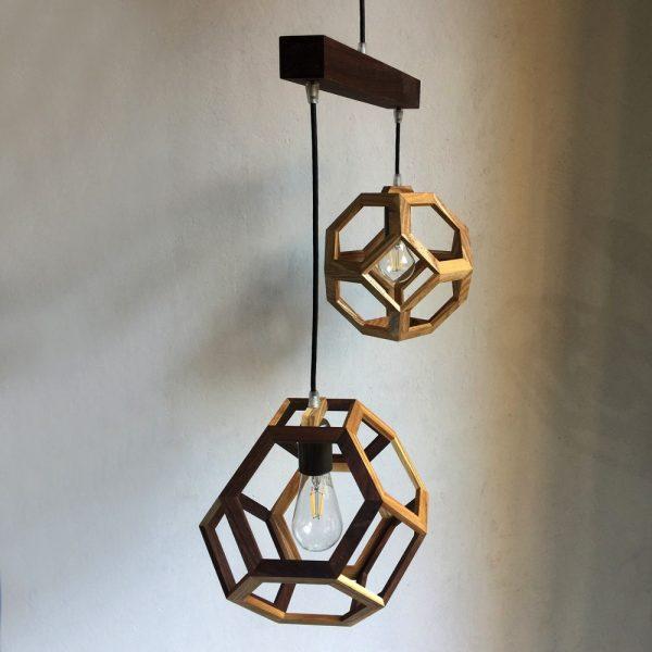 Ganimede Double pendant lamp