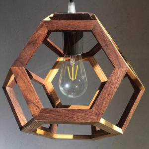 Ganimede Light truncated octahedron pendant lamp