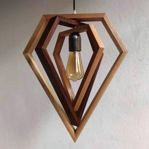 Giano triple diamond pendant lamp
