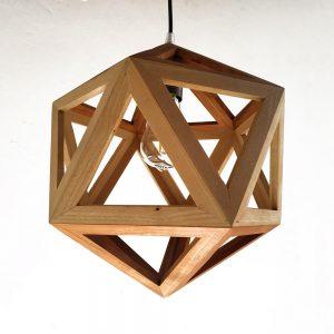 Megaclite Icosahedron wood pendant lamp